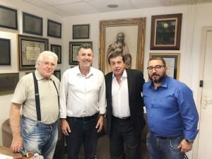 Paulo Fenille e o deputado Jorge Caruso entre Caruso (Pai) e Robson Goulart