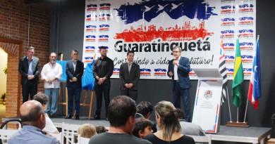 Inauguração do espaço multiuso da secretaria de Turismo, que receberá apresentações e exposições (Foto: Divulgação PMG)