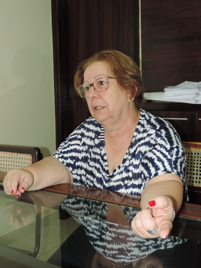 A prefeita Teca Gouvêa, afastada por processo que aponta neglig|ência com prédios do Município (Rafaela Lourenço)