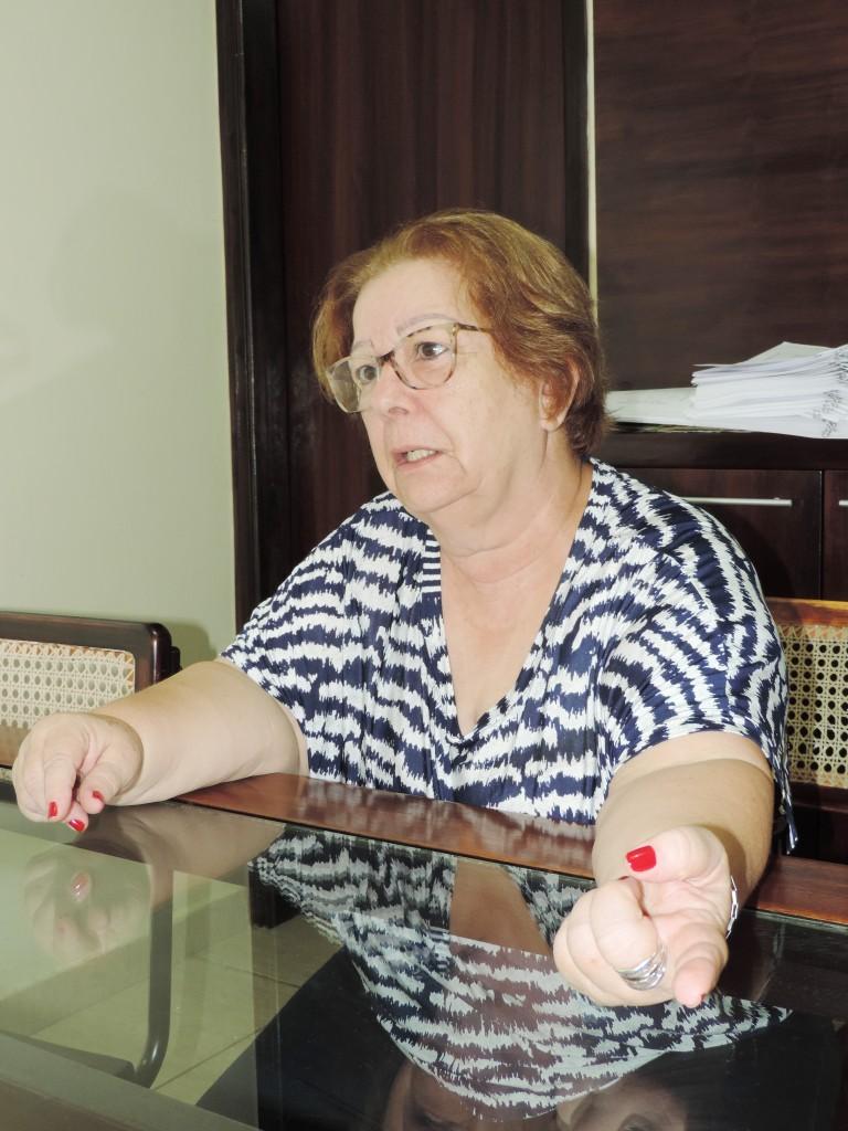 Teca Gouvêa voltou à Prefeitura nesta semana, após novo afastamento (Foto: Arquivo Atos)