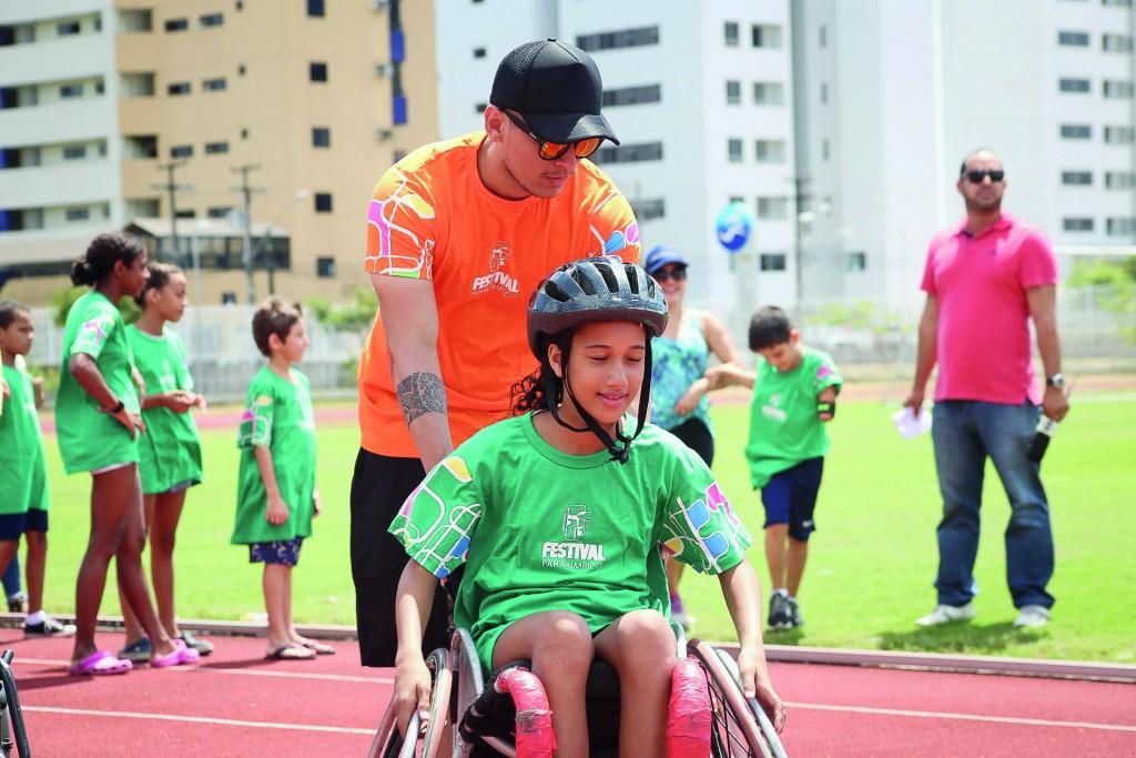 Atividade do Festival Paralímpico', do Comitê Brasileiro, que terá a edição 2019 realizada em Ubatuba; proposta é incentivar esportes adaptados (Foto: Divulgação PMU)