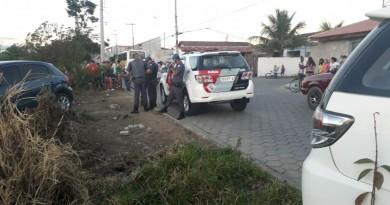 Polícia Militar durante operação em Lorena;             (Foto: Colaboração Adriana Nunes)