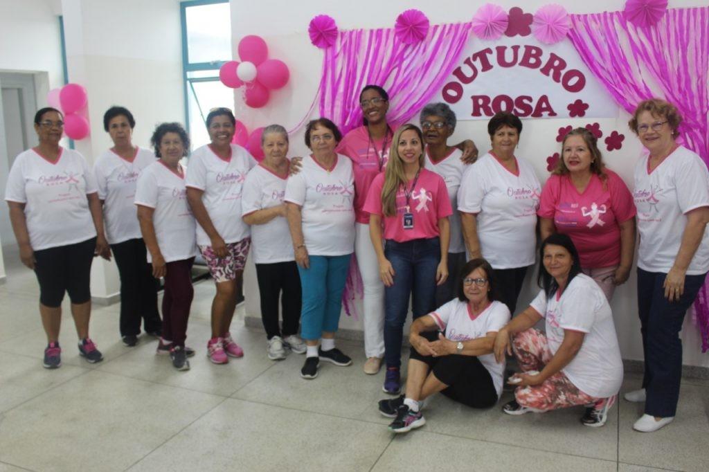 Ação do Outubro Rosa realizada este mês, no Jardim do Vale I; cidade recebe