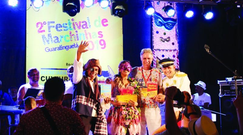 Grupo campeão do 2º Festival de Marchinhas de Guaratinguetá; inscrição seguem abertas (Foto: Arquivo Atos)