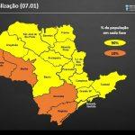 Estado mantém RMVale na fase amarela