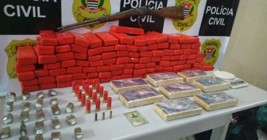 Traficante é preso com mais de cem quilos de drogas, armas e munições em Lorena
